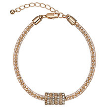 Buy John Lewis Ball and Glass Pave Bracelet, Gold Online at johnlewis.com