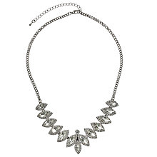 Buy John Lewis Leaf Shape Necklace, Silver Online at johnlewis.com