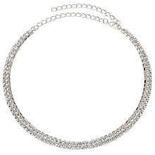 Buy John Lewis Slim Pave Choker, Silver Online at johnlewis.com