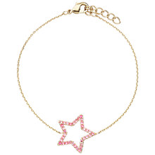 Buy Estella Bartlett Rose Gold Plated Cubic Zirconia Open Star Bracelet, Rose Gold Online at johnlewis.com