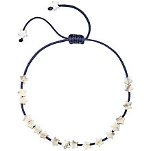 Buy Estella Bartlett Heart Friendship Bracelet, Navy Online at johnlewis.com