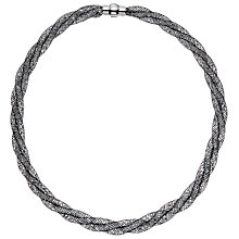 Buy John Lewis Mini Crystals Twisted Necklace, Black Online at johnlewis.com