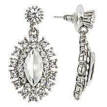 Buy John Lewis Glass Crystal Statement Leaf Drop Earrings, Silver Online at johnlewis.com