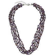 Buy John Lewis Fine Bead Purple Necklace, Purple Online at johnlewis.com