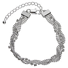 Buy John Lewis Entwine Pave Chain Bracelet, Silver Online at johnlewis.com