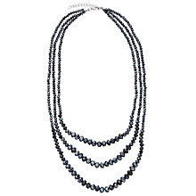 Buy John Lewis Sparkle Short Layered Necklace, Navy Online at johnlewis.com