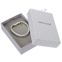 Buy John Lewis Silver Plated Fine Tennis Bracelet, Silver Online at johnlewis.com