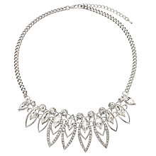 Buy John Lewis Petal Shape Fan Necklace, Silver Online at johnlewis.com
