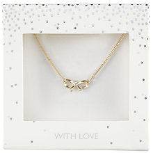 Buy John Lewis Pave Bow Design Necklace, Gold Online at johnlewis.com