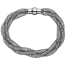 Buy John Lewis Mini Crystals Twisted Bracelet, Black Online at johnlewis.com