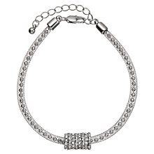 Buy John Lewis Ball and Glass Stone Pave Bracelet, Silver Online at johnlewis.com