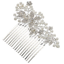 Buy John Lewis Filigree Faux Pearl Display Hair Slide, Silver Online at johnlewis.com
