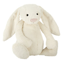Buy Jellycat Really Big Bashful Bunny Soft Toy, Cream Online at johnlewis.com