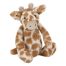 Buy Jellycat Bashful Giraffe Baby Soft Toy Online at johnlewis.com