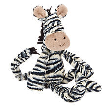 Buy Jellycat Merryday Medium Zebra Soft Toy Online at johnlewis.com