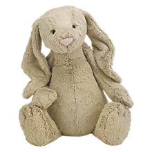 Buy Jellycat Huge Bashful Bunny Soft Toy, Beige Online at johnlewis.com