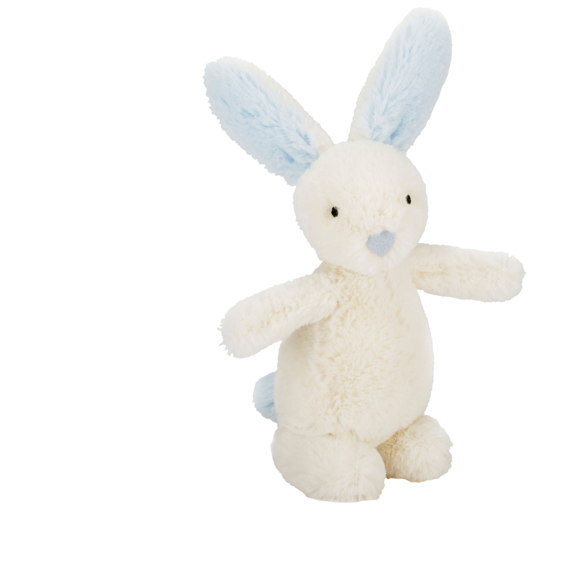 Buy Jellycat Bobtail Bunny Rattle, One Size, Cream/Blue John Lewis
