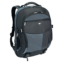 "Buy Targus Atmosphere XL Backpack for Laptops up to 18"", Black & Blue Online at johnlewis.com"