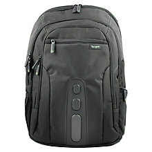 "Buy Targus EcoSpruce Backpack for Laptops up to 15.6"", Black Online at johnlewis.com"