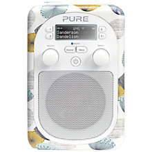 Buy Pure Evoke D2 Mio DAB/FM Bluetooth Portable Digital Radio, Sanderson Print, Dandilion + D1 ChargePAK Online at johnlewis.com