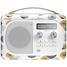 Buy Pure Evoke D4 Mio DAB/FM Bluetooth Radio, Sanderson Print Online at johnlewis.com