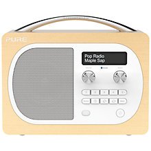 Buy Pure Evoke D4 DAB/FM Radio, Maple + F1 ChargePAK Online at johnlewis.com