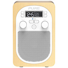 Buy Pure Evoke D2 DAB/FM Digital Radio, Maple + D1 ChargePAK Online at johnlewis.com