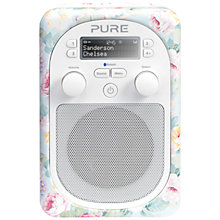Buy Pure Evoke D2 Mio DAB/FM Bluetooth Portable Digital Radio, Sanderson Print, Chelsea + D1 ChargePAK Online at johnlewis.com