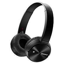 Buy Sony MDR-ZX330BT Bluetooth On-Ear Headphones with Mic/Remote, Black Online at johnlewis.com