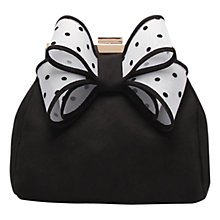 Buy Miss KG Tara Bow Clutch Bag, Black/White Online at johnlewis.com