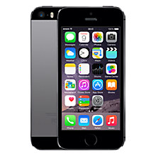 "Buy Apple iPhone 5s, iOS, 4"", 4G LTE, SIM Free, 32GB Online at johnlewis.com"