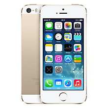 "Buy Apple iPhone 5s, iOS, 4"", 4G LTE, SIM Free, 16GB Online at johnlewis.com"