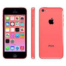 "Buy Apple iPhone 5c, iOS, 4"", 4G LTE, SIM Free, 8GB Online at johnlewis.com"