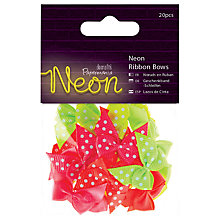 Buy Docrafts Neon Spot Ribbon Bows, Multi, 20pcs Online at johnlewis.com