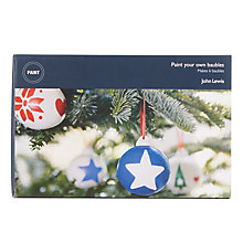 Buy John Lewis Paint Your Own Christmas Baubles Kit Online at johnlewis.com