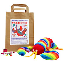 Buy Sock Creatures Sock Lobster Kit Online at johnlewis.com