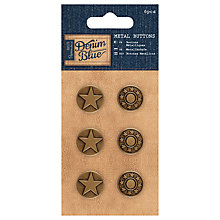 Buy Docrafts Metal Buttons, Vintage Gold, 6pcs Online at johnlewis.com