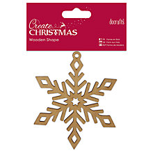 Buy Docrafts Christmas Wooden Shape Snowflake Decoration, Beige Online at johnlewis.com