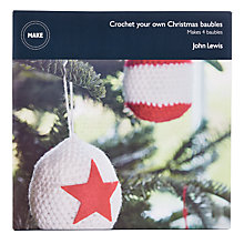 Buy John Lewis Make Your Own Crochet Christmas Baubles, Pack of 4, Red/White Online at johnlewis.com