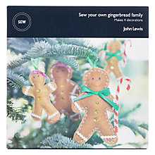 Buy John Lewis Sew Your Own Gingerbread Family Craft Kit Online at johnlewis.com