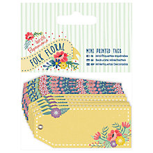 Buy Docrafts Mini Printed Tags, Multi, 10pcs Online at johnlewis.com