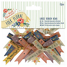 Buy Docrafts Large Ribbon Bows, Multi, 12pcs Online at johnlewis.com