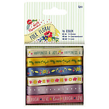 Buy Docrafts Folk Floral Ribbon, Multi, 1m, 6pcs Online at johnlewis.com