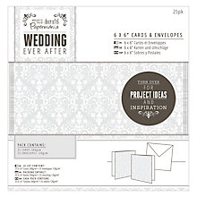 "Buy Docrafts Wedding Cards and Envelopes, Dove Grey, 6 x 6"", Pack of 25 Online at johnlewis.com"
