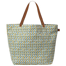 Buy White Stuff Canvas Shopper Bag, Sea Kelp Online at johnlewis.com
