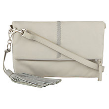 Buy Jigsaw Frieda Whip Stitch Cross Body Bag, Grey Online at johnlewis.com