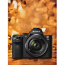 "Buy Sony Alpha 7 II Compact System Camera With HD 1080p, 24.3MP, Wi-Fi, NFC, OLED EVF, 5-Axis Image Stabiliser & 3"" LCD Screen, 28-70mm Lens Included Online at johnlewis.com"