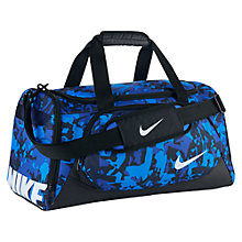 Buy Nike YA TT Children's Small Duffel Bag, Blue Online at johnlewis.com