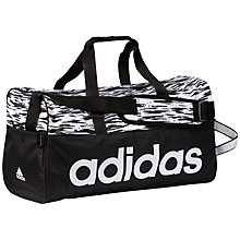 Buy Adidas Linear Performance Team Holdall, Black/White Online at johnlewis.com