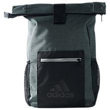 Buy Adidas Fabric Backpack, Dark Grey Heather/Black Online at johnlewis.com